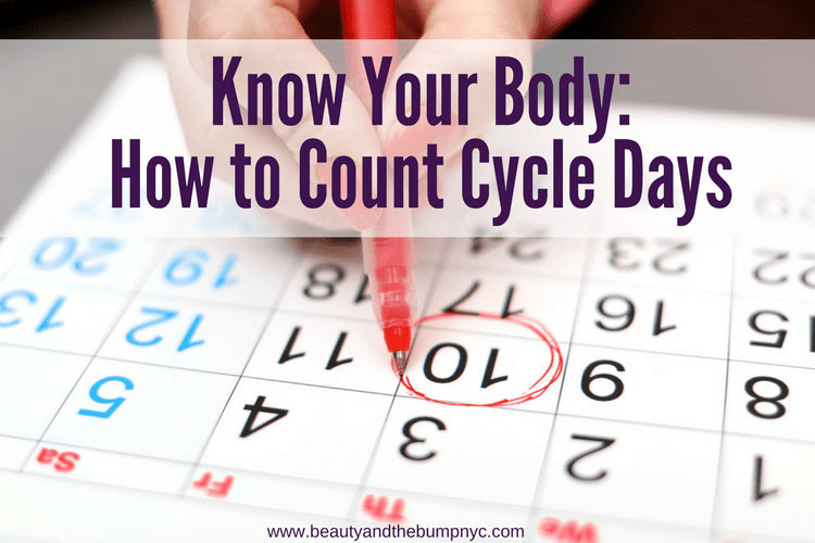 Know Your Body: How to Count Cycle Days